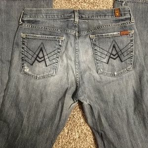 3 FOR $20 *7 For All Mankind boot cut jeans Flawed
